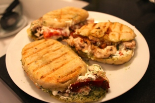 Grilled Goat Cheese and Chicken Panini