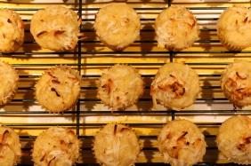 Banana Coconut Mini Muffins
